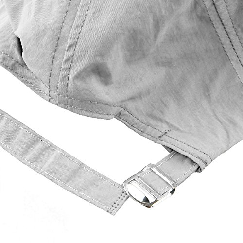 Samtree Baseball Caps for Women,Foldable Ultra Thin Weightlight Sport Sun Hats(Style 2-Light Grey)