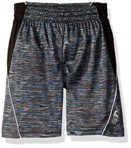 STX Fashion Boys' Big Drawstring Athletic Short, Lines Black, 14/16 - Lines Boy Short