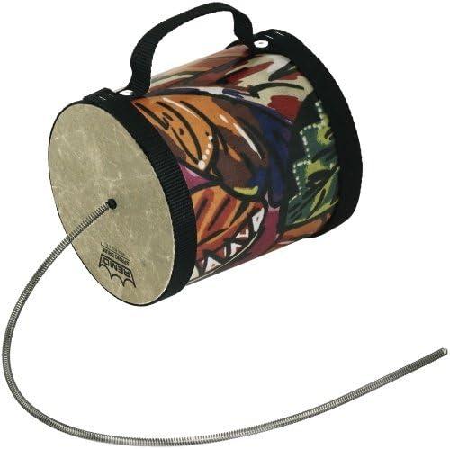 """REMO Spring Drum, 5"""" Diameter, 5"""" Length, Fabric Tropical Leaf"""