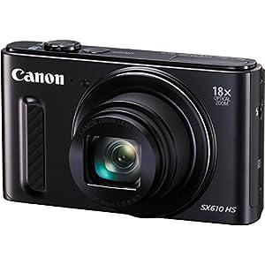 Canon SX610 20.2 Megapixel PowerShot CMOS sensor 18x Optical Zoom (25-450mm)- Wi-Fi Enabled, Certified Refurbished - Black