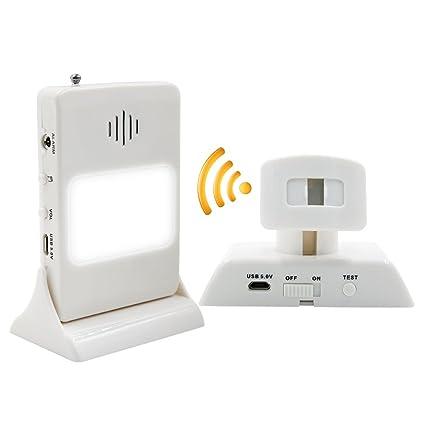 Surwin Alarma de seguridad con luz de noche Sensor de movimiento inalámbrico del sistema de seguridad