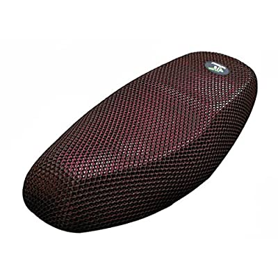 uxcell L 3D Motorcycle Scooter Moped Seat Cover Breathable Mesh Net Cushion Black Red