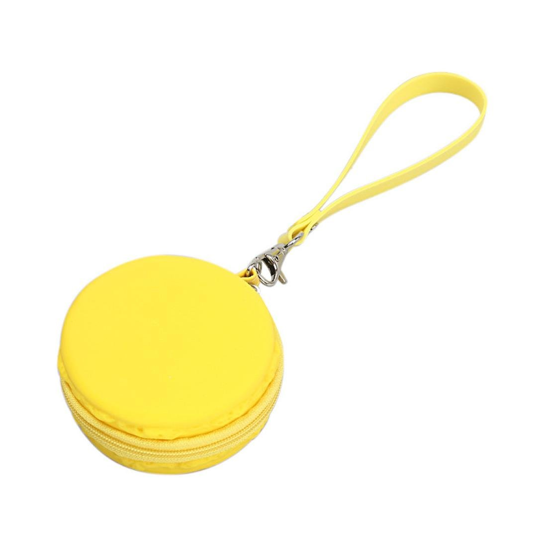 Sunward Female Cute Mini Macaron Silicone Waterproof Coin Bag Pouch Purse Wallet