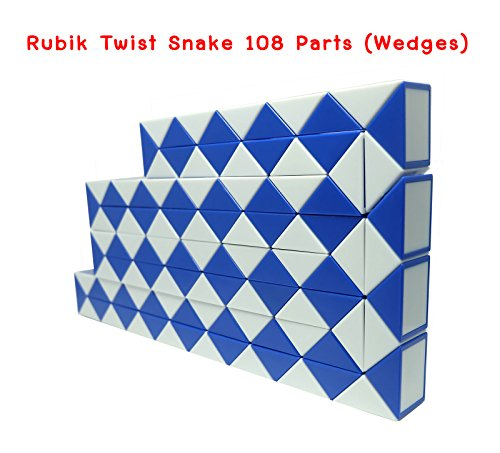 Rubik Twist Snake 108 Wedges (Parts) Blue Color each part size 1.25