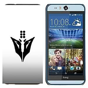 TECHCASE---Cubierta de la caja de protección para la piel dura ** HTC Desire Eye ( M910x ) ** --Dots Abstract