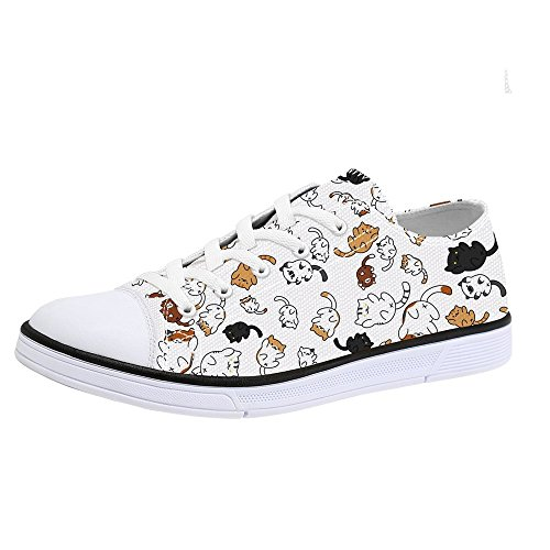 First Dance Cat Shoes for Women Cat Printed Shoes for Ladies Design Fashion Sneakers Low Tops Cute Shoes for Women