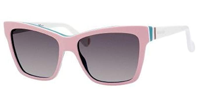 3db940bf12bc Image Unavailable. Image not available for. Color: Gucci Sunglasses - 5006  C / Frame: Pink White Aqua Lens: Dark Gray Gradient