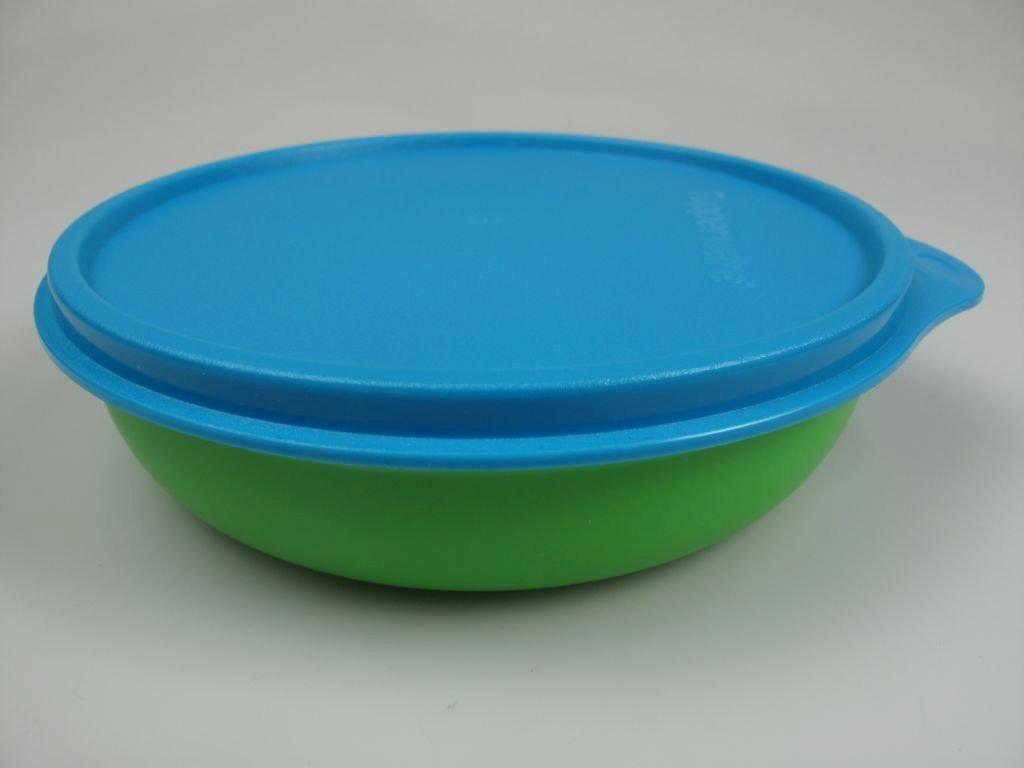 TUPPERWARE Assiette b/éb/é vert bleu