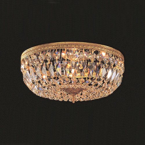 Olde Cast Brass Crystal (Crystorama 712-OB-CL-MWP Crystal Three Light Crystal Basket from Richmond collection in Brassfinish,)