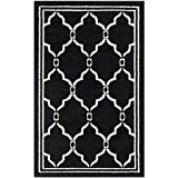 """Safavieh Amherst Collection AMT414G Anthracite and Ivory Indoor/ Outdoor Area Rug (2'6"""" x 4')"""