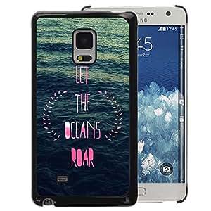 A-type Arte & diseño plástico duro Fundas Cover Cubre Hard Case Cover para Samsung Galaxy Mega 5.8 (Ocean Inspirational Pink Blue Wreath)