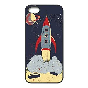 AKERCY Rocket Phone Case For iPhone 5,5S [Pattern-3]