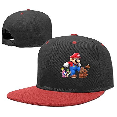 NCKG Super Mario Bro Fans Boys & Girls Caps Hat Adjustable, Red
