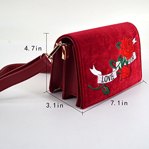 Millya - Bolso mochila  para mujer, verde (Verde) - bb-01675-01C Red
