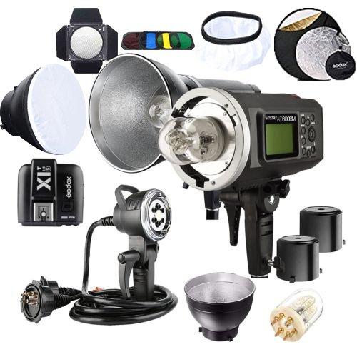 - Godox 2pcs AD600BM Bowens Mount 600Ws GN87 1/8000 HSS Outdoor Flash Strobe Monolight with X1S Trigger/AD-H1200B 1200W Flash Head & Bulb Flash Tube/ Standard Reflector & diffuser/ Barn Door/ Reflector