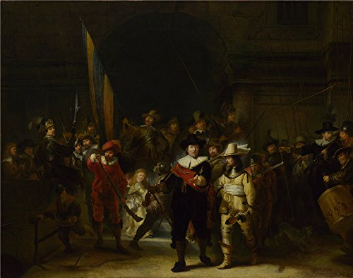 Oil Painting 'Gerrit Lundens (after Rembrandt) - The Company Of Captain Banning Cocq (The Nightwatch),after 1642' 30 x 38 inch / 76 x 97 cm , on High Definition HD canvas prints, Gym, Kitchen, decor by LuxorPre
