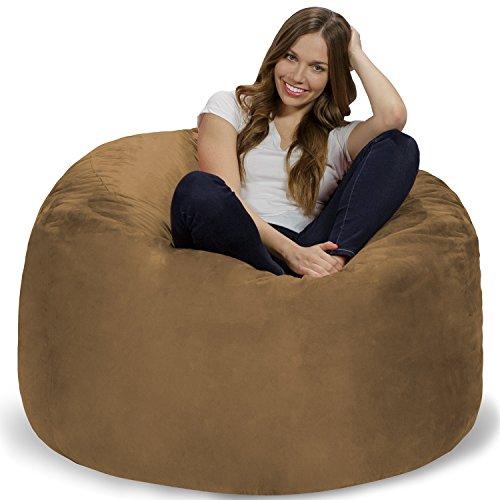 Earth Microsuede Covers - Chill Sack Bean Bag Chair: Giant 4' Memory Foam Furniture Bean Bag - Big Sofa with Soft Micro Fiber Cover - Earth