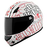 Speed and Strength SS700 Hell's Belles  A.T.P.A. Shell Helmet White/Red, Small