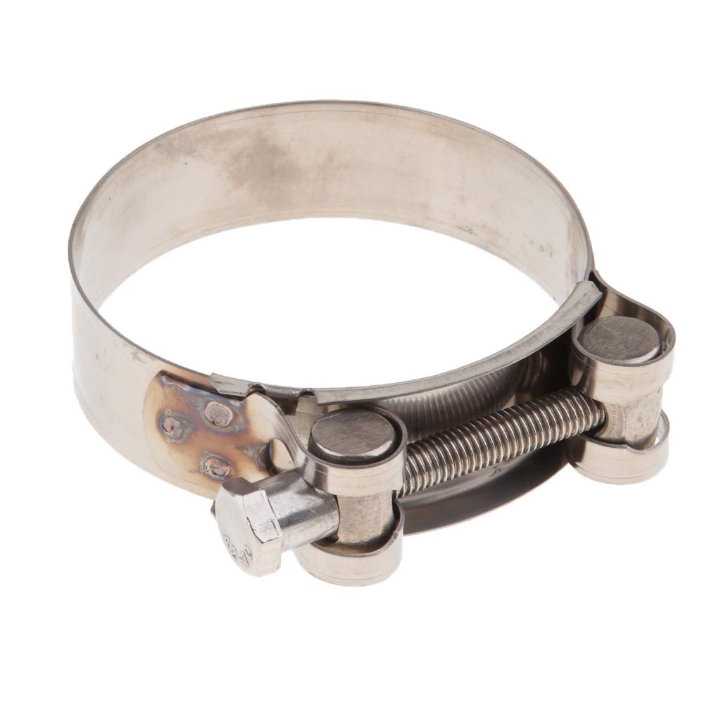 60-63mm perfk Universal Motorcycle Exhaust Pipe Clamp Clip Stainless Steel