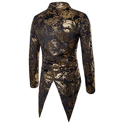 Costume Or Élégant Blazer Slim Fit Hommes Veste Vestes Smoking De zq8EttwSx