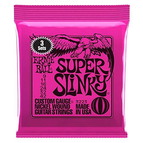 Ernie Ball Super Slinky Nickel Wound Sets.009 - .042 (3 Pack)