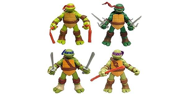 AIYL -12cm Tortugas Ninja Animado Figura Figura Modelo A ...