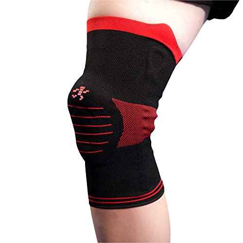 4221b072f6 UFlex Athletics Knee Brace Support Sleeve with Side Stabilizers and Patella  Padding for Post Surgery,