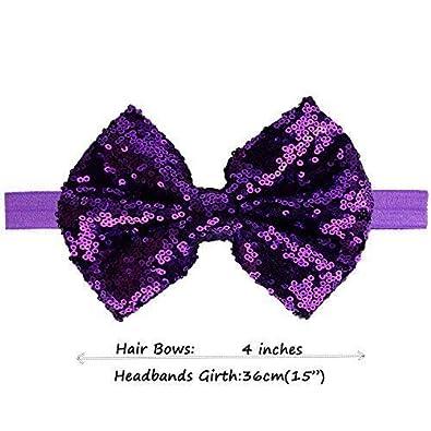 Hair Elastics Hair Bands  Hair Accessories Clips Sequin Bow