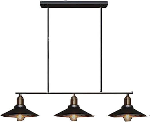 """Kehuashina 36.6""""Luz colgante de 6 luces industrial para el comedor ..."""