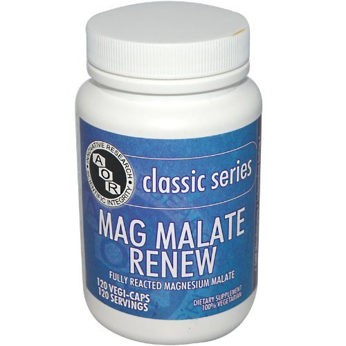 Advanced Orthomolecular Research AOR, Classic Series, Mag Malate Renew, 120 Veggie Caps by Advanced Orthomolecular Research AOR