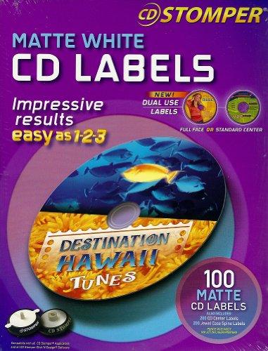 CD Stomper Matte White CD Labels