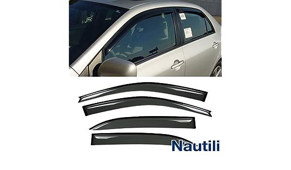 4pcs JDM Smoke Tint Vent Shade Window Visors Fit 94-97 Honda Accord 4-Door Sedan