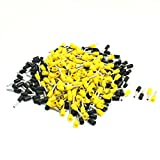 Aexit 16AWG Wire E1508 Yellow Black Pre Insulating Ferrules Terminals 380Pcs