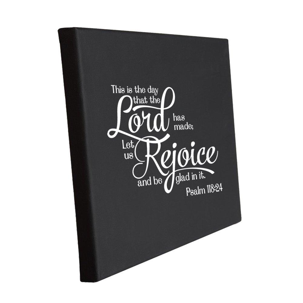 これは日that Lord Has Made Let Us Rejoice Be Glad In It黄麻布キャンバス 8 in x 10 in ブラック PFBDECMVDDC684_8 B06XD1GMT9  8 in x 10 in