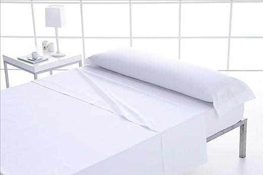 ForenTex - Juego de sábanas, (L-Blanco), 100% algodón, Blancas ...