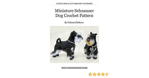 PATTERN ONLY Schnauzer Crochet PDF instructions | Bichinhos de ... | 315x600