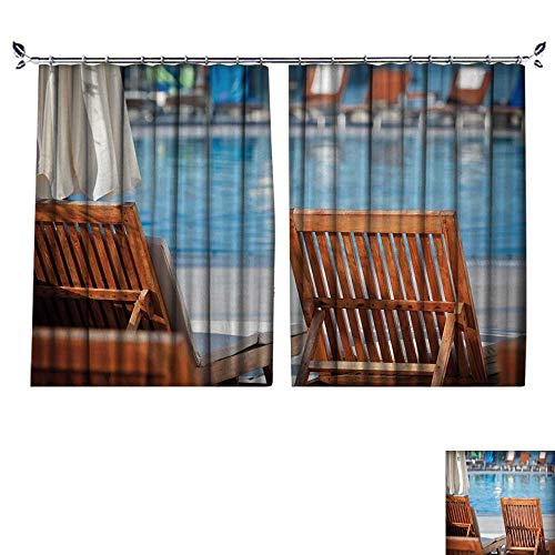 DESPKON Environmental Protection Material Polyester Poolside Chairs Horizontal Shot for Living Room Window,Sun Insulation. W120 x L108