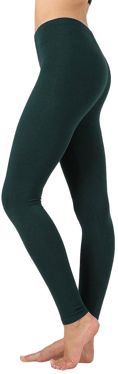 ToBeInStyle Women's Skinny Fit Cotton Stretch Full Length Leggings