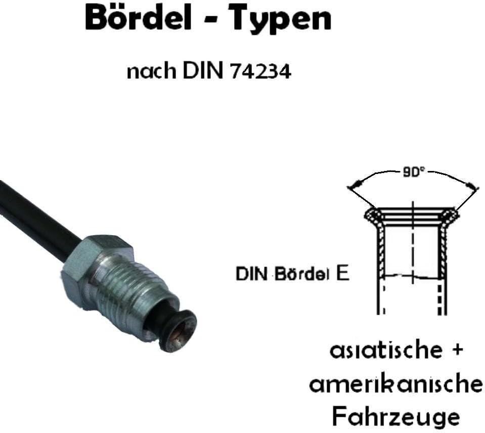 Tuyau de Frein /Ø 4,75 mm en Acier cuivr/é rev/êtu /évasure double type E conduite de freins DIN 74 234 tuyaux des canalisations de freins 150mm Longueur 900 mm 3050mm choix
