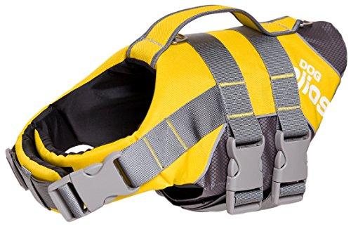 - DOGHELIOS 'Splash-Explore' Outdoor Performance 3M Reflective and Adjustable Buoyant Safety Floating Pet Dog Life Jacket Vest Harness, Large, Yellow