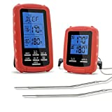 The Premium Chef Wireless Grill Thermometer with Dual Probe for Smoker Countdown Timer
