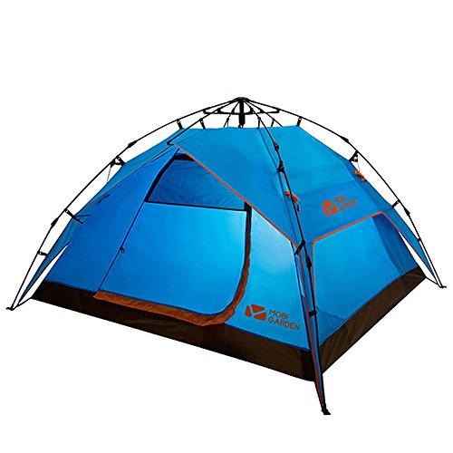 インキュバスピンエキスパートMUTANG 屋外自動防水テント3-4人家族キャンプ厚い日焼け止めキャンプダブルレイヤテント四季テント多目的