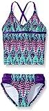 Kanu Surf Big Girls Candy Tankini Swimsuit, Purple, 8