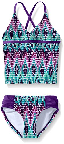 Kanu Surf Little Girls Candy Tankini Swimsuit, Purple, 6