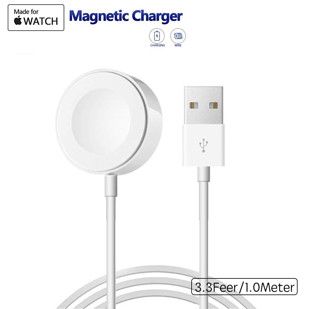 Apple Watch Charger, PHADEN 1m Portable Wireless Charger for iWatch with MFI Certified Magnetic Charger for Apple Watch Series 1/2/3/Nike+/Edition/Hermès in 38mm & 42mm
