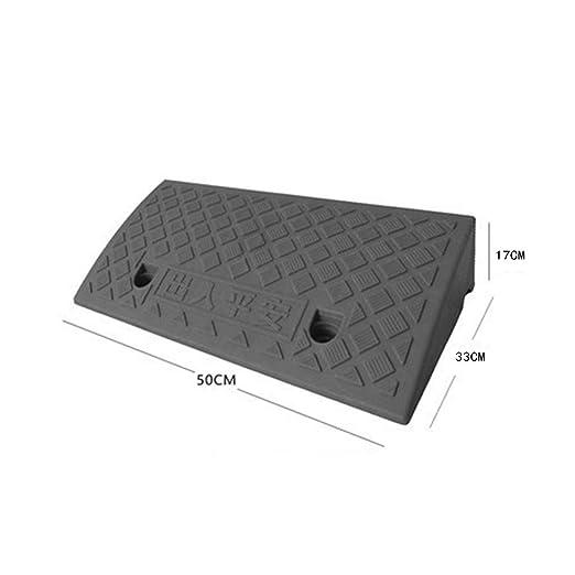Amazon.es: Alfombra de rampa multifuncional, cojín ascendente de plástico negro Camino de plataforma de rampa para el hogar Silla de ruedas Pendiente de ...