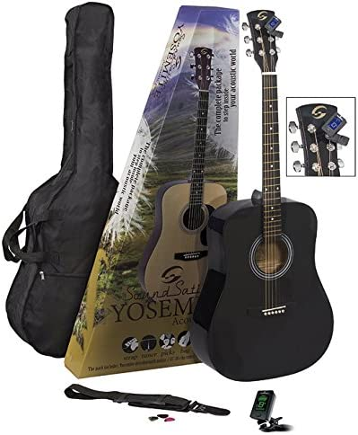 Soundsation Yosemite GP-BK Pack de Guitarra Acústica: Amazon.es: Instrumentos musicales
