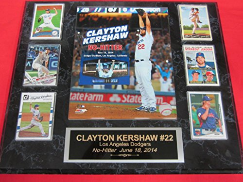 Clayton Kershaw Dodgers 6 Card Collector Plaque w/8x10 Photo 2014 NO HITTER