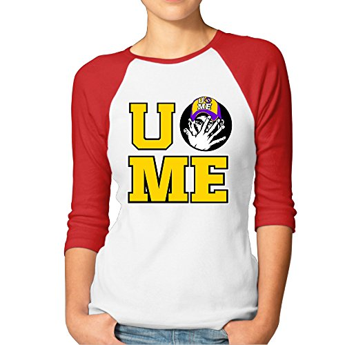 NINJOE Lady's 3/4 Raglan Famous Wrestling Custom Tees Red - Shade Station Coupon