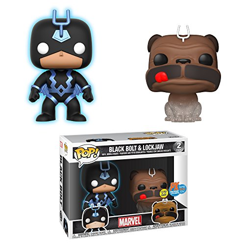 Funko Pop! Marvel 2 Pack Black Bolt Lockjaw Glow in the Dark